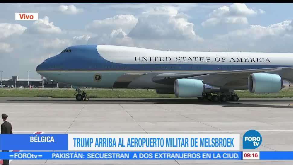 presidente de Estados Unidos, Donald Trump, gira internacional, Bruselas