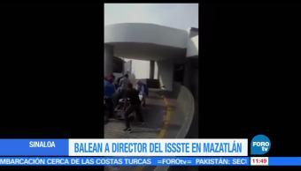 director del ISSSTE, Sinaloa, Miguel Ángel Camacho Zamudio, baleado, hospital