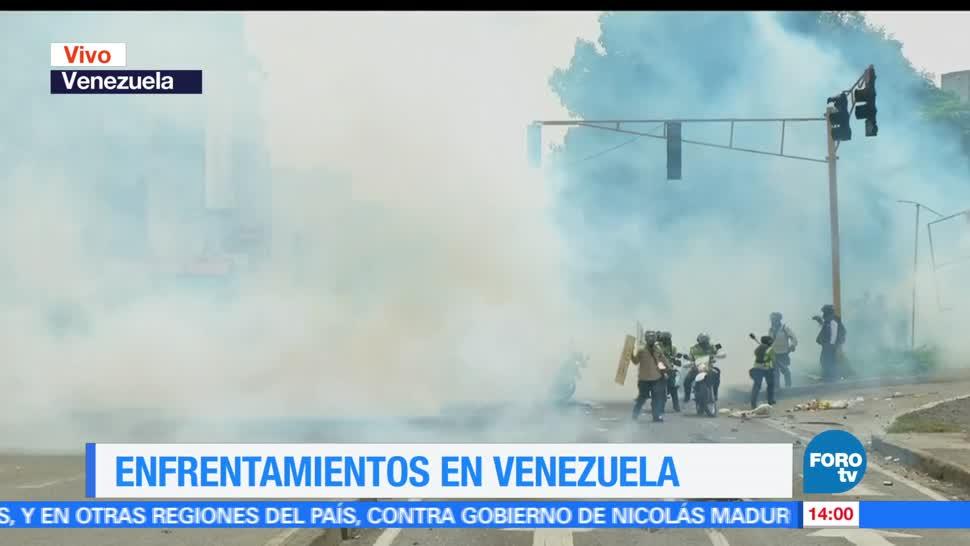 notiicieros, forotv, Continuan, enfrentamientos, calles, Venezuela