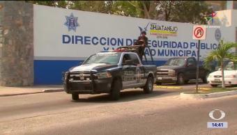 Instalaciones de la Dirección de Seguridad Pública de Zihuatanejo, Guerrero. (Noticieros Televisa)