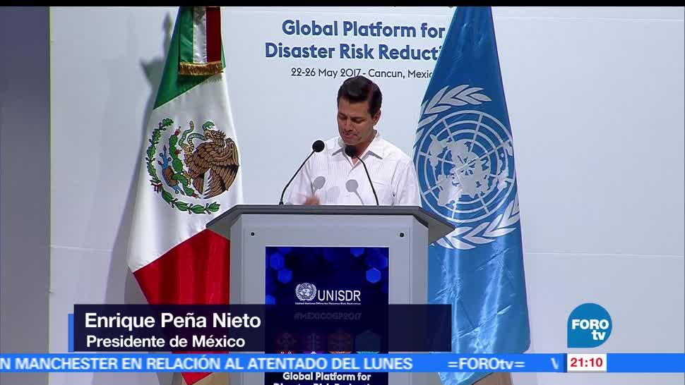 EPN inaugura, plataforma, contra riesgos, desastres naturales, fenomenos, Quintana Roo