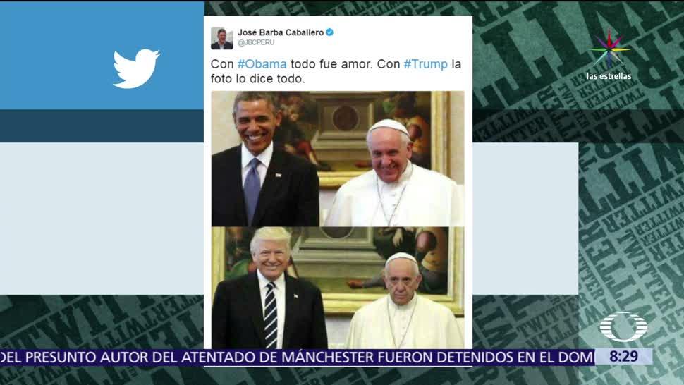 redes sociales, diferencias, reunión, papa Francisco, Donald Trump, Barack Obama