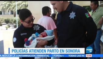 Policía Estatal, labores de parto, Ciudad Obregón, Sonora, madre, bebe