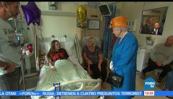 noticias, forotv, Reina Isabel II, visita, niñas heridas