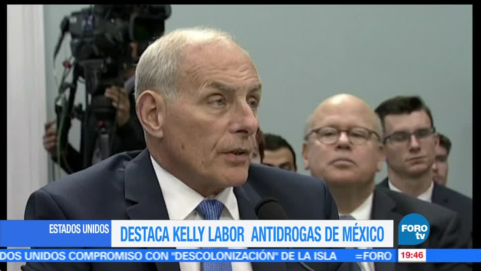 Destaca, John Kelly, labor antidrogas, México, Eu, drogas