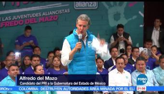 Alfredo, del Mazo, visita, Acambay, PRI, Estado de México