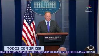 Sean Spicer, vocero de la Casa Blanca, reunión, papa Francisco