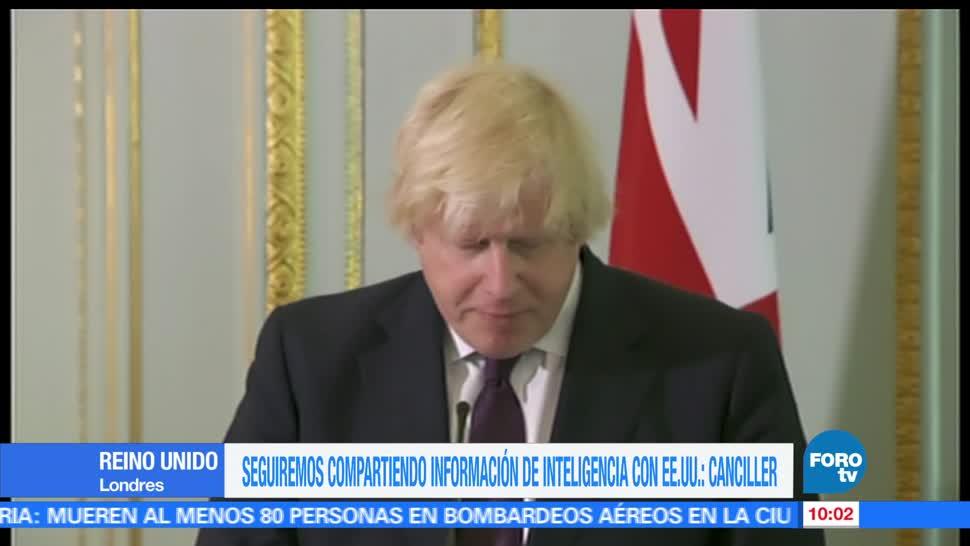 Boris Johnson, canciller británico, inteligencia, EU