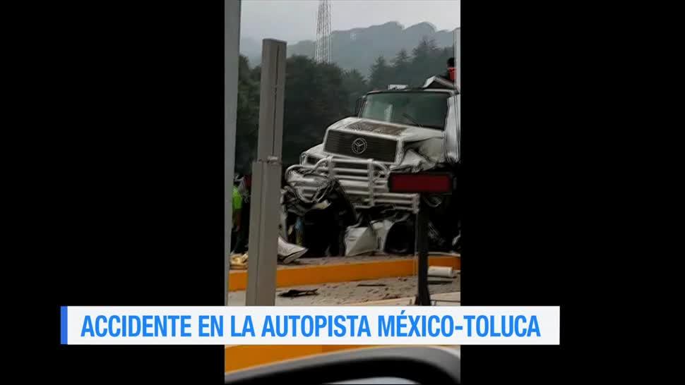 muertos, choque, autopista, México-Toluca, autopista, camión sin frenos