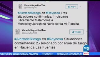 Autoridades de Tamaulipas, persona lesionada, arma de fuego, Reynosa