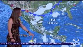 potencial de lluvias, entidades, frente frío, onda tropical