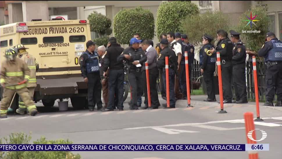 Hombres armados, asaltan, camioneta de valores, Plaza Oriente, Iztapalapa