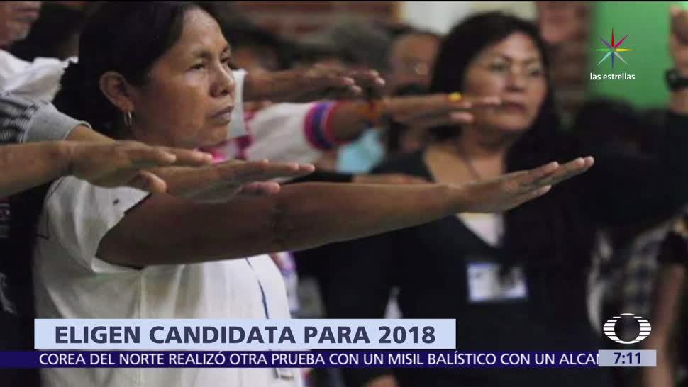 EZLN, María de Jesús Patricio, candidata presidencial, movimiento indígena, elección del 2018