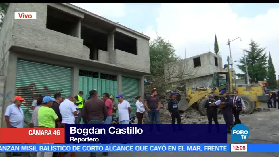 derrumbe, colonia Mario Moreno, Iztapalapa, CDMX, muerto, heridos