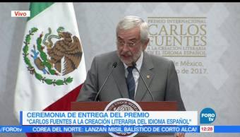 Rector de la UNAM, Enrique Graue, Entrega del Premio, Carlos Fuentes