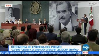 presidente, Peña Nieto EPN, Premio Carlos Fuentes, Creación Literaria