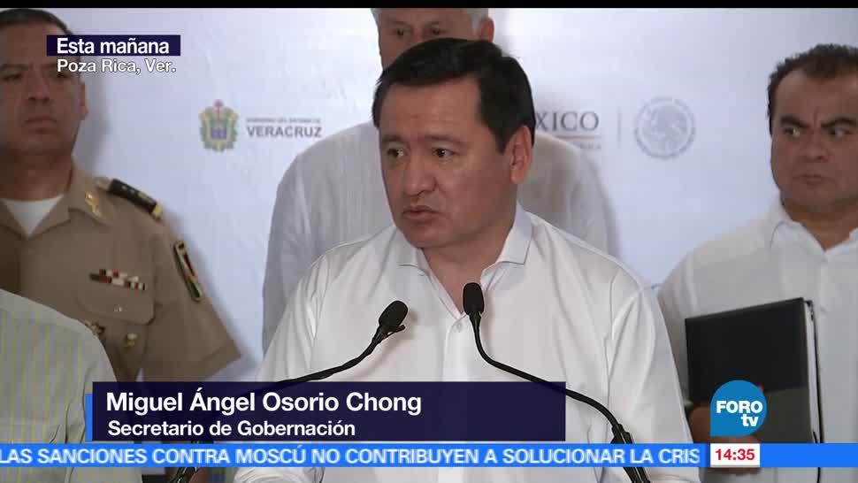 Miguel Ángel Osorio Chong, secretario de Gobernación, seguridad, Veracruz