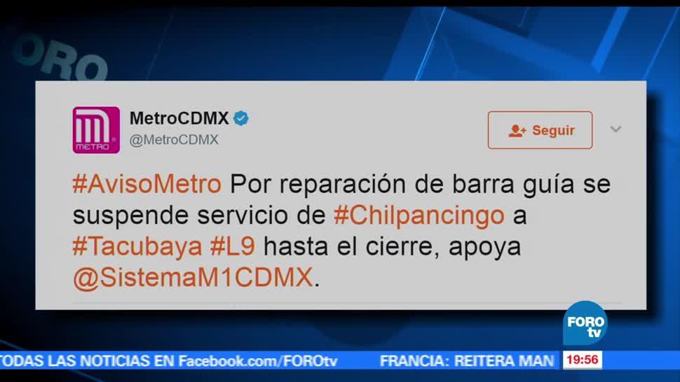 noticias, forotv, Continúan, afectaciones, suspensión del servicio, Metro en la Línea 9