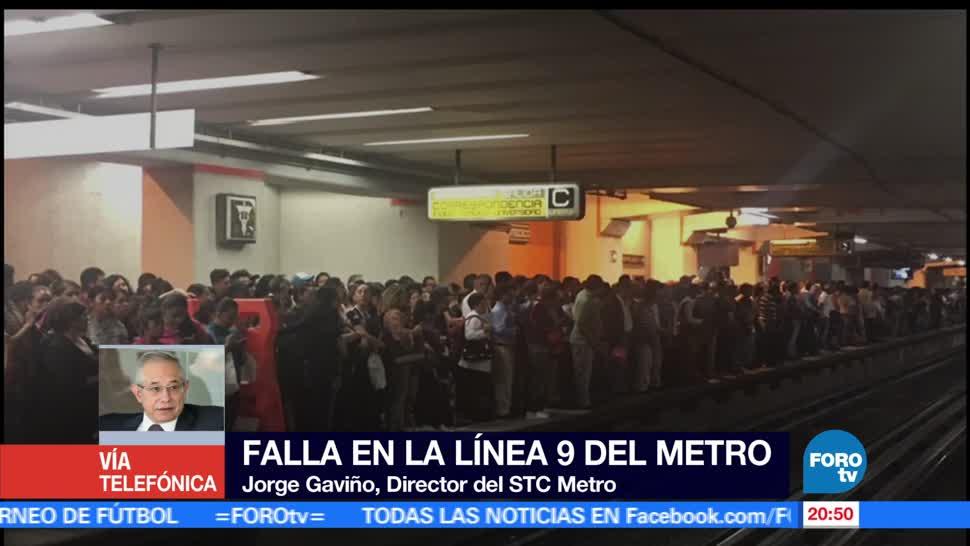 noticias, forotv, fallas, Línea 9, Metro, suspende servicio