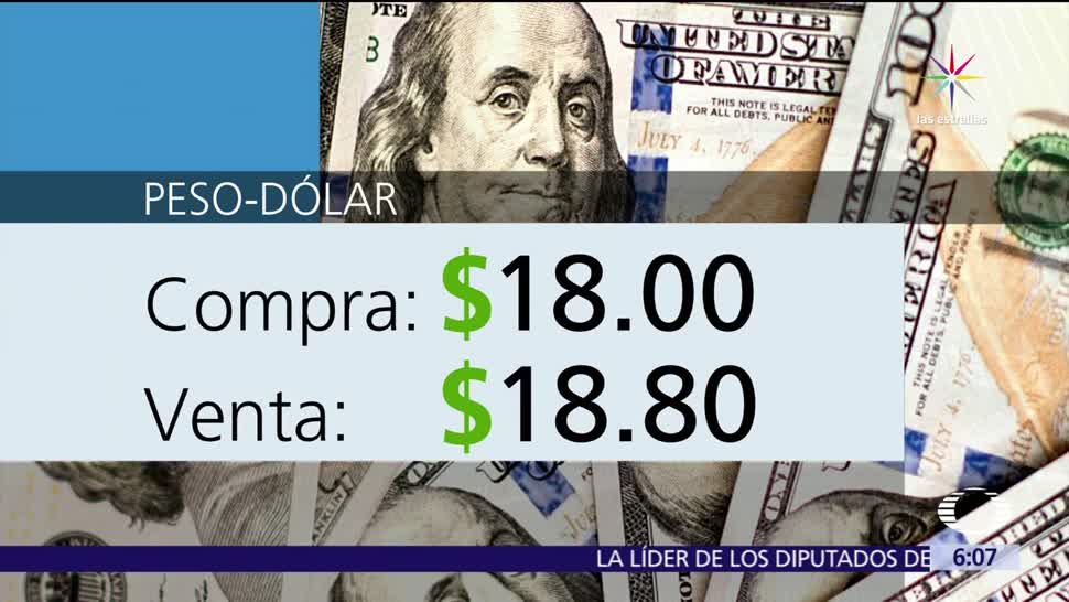 dólar, ventanillas bancarias, Ciudad de México, 18.00