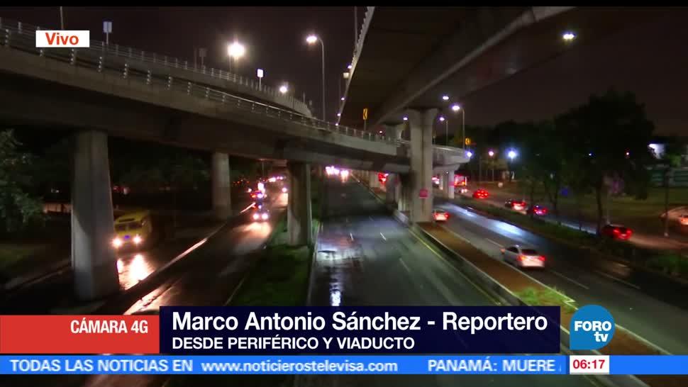 avenidas periférico, Viaducto, encharcamientos, lluvias, Ciudad de México