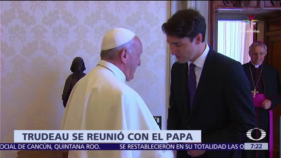 papa Francisco, primer ministro de Canadá, Justin Trudeau, Vaticano