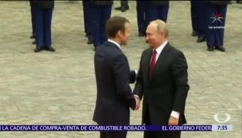 Vladimir Putin, Emmanuel Macron, Francia y Rusia, Siria y Ucrania