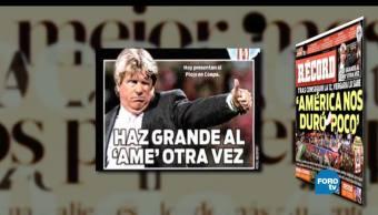 Matutino Express, primeras planas, periódicos deportivos, circulación nacional