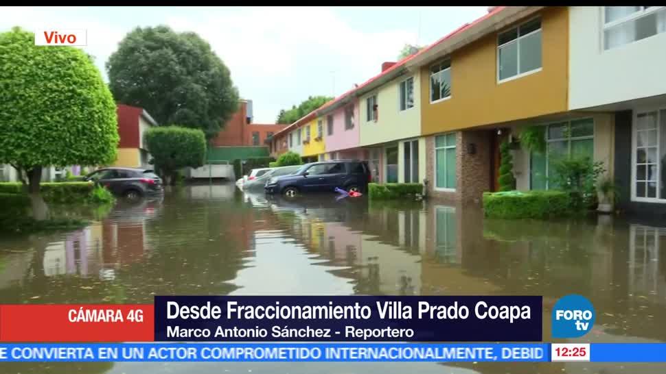 inundaciones en Coapa, sur de la CDMX, metro de altura, familias