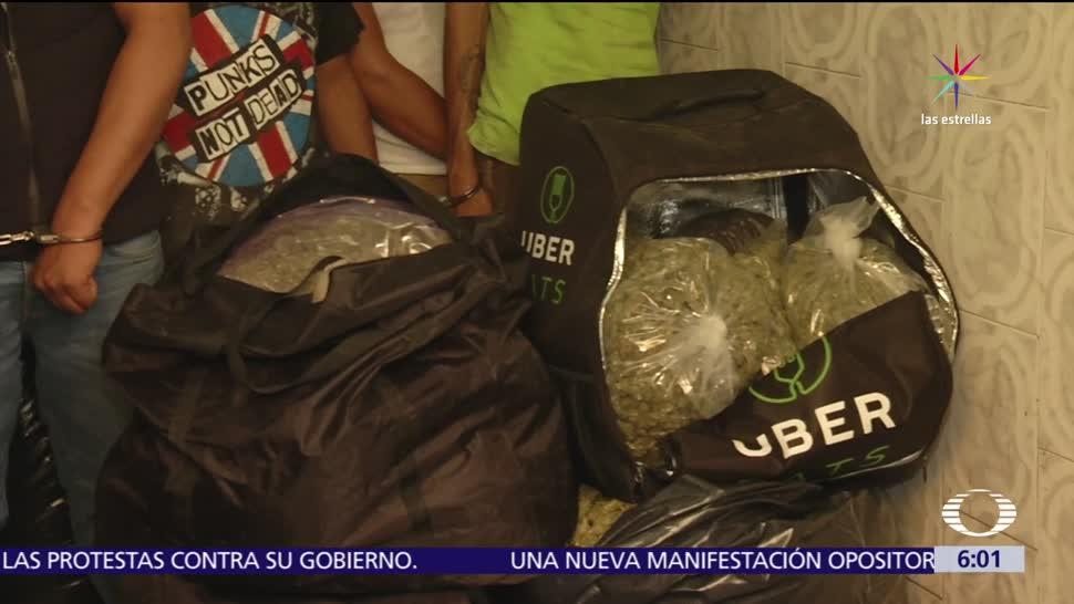 Decomisan, 300 kilos, marihuana, Tepito