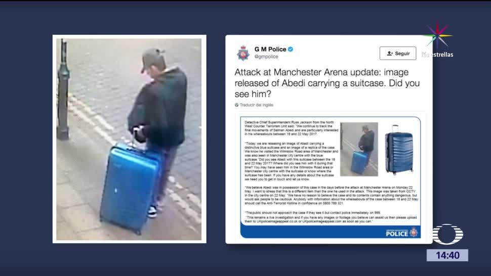 Policía, Manchester, busca, maleta azul