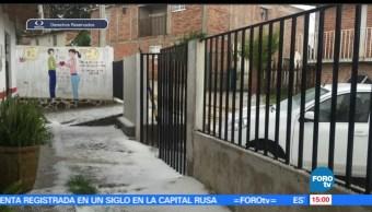 registra, granizada, Jalisco, fuerte lluvia