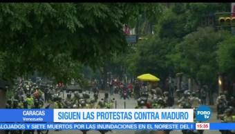 Siguen, protestas, Maduro, Venezuela