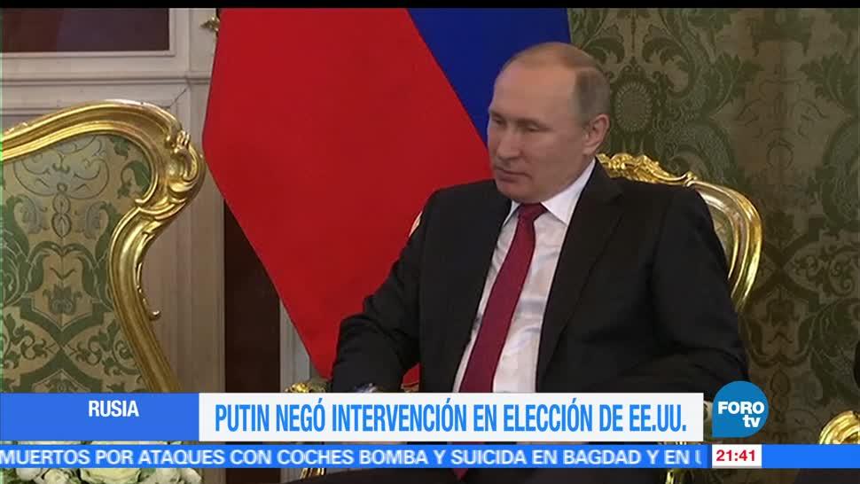 noticias, forotv, Putin, niega, intervención, elección de EU