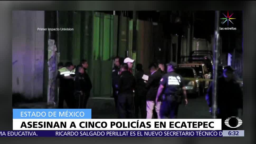 Cinco policías, Ecatepec, emboscados, San Cristóbal, muertos, heridos
