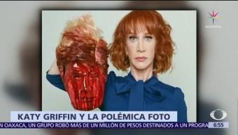 polémica por foto, comediante Kathy Griffin, cabeza ensangrentada, Trump