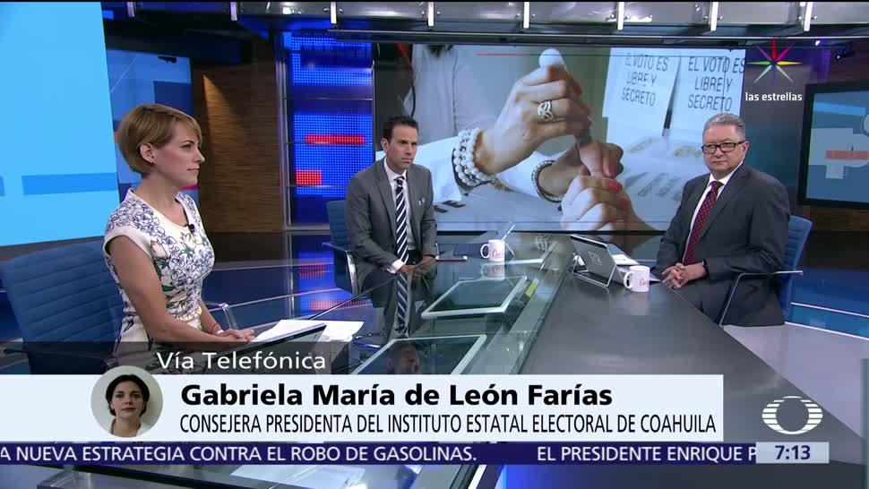 Gabriela María de León Farías, consejera presidenta, Instituto Electoral, Coahuila, 4 de junio