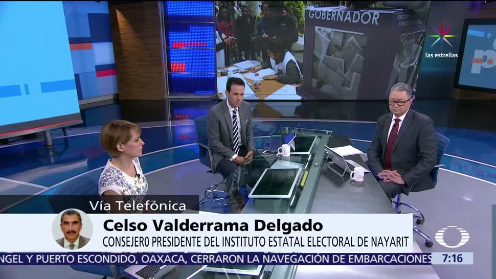 Celso Valderrama Delgado, consejero presidente, Instituto Electoral, Nayarit, 4 de junio