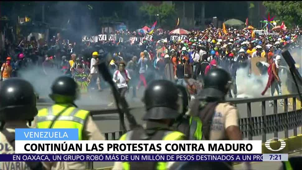 calles de Venezuela, protestar contra la represión, fuerzas de seguridad,