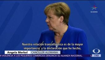 canciller alemana, Angela Merkel, Donald Trump, Twitter, comercio