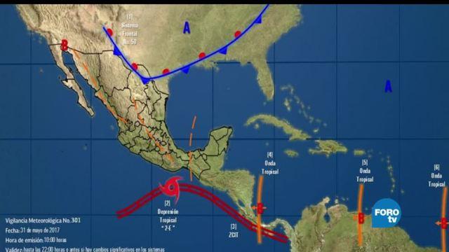 noticias, forotv, Depresión tropical, 2-E, tormenta, jueves