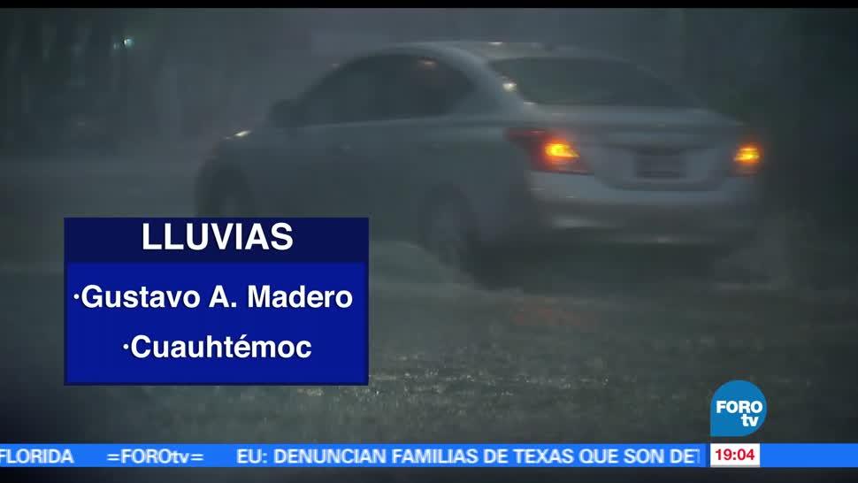 Lluvia, delegaciones, CDMX, miércoles, encharcamientos,. inundaciones