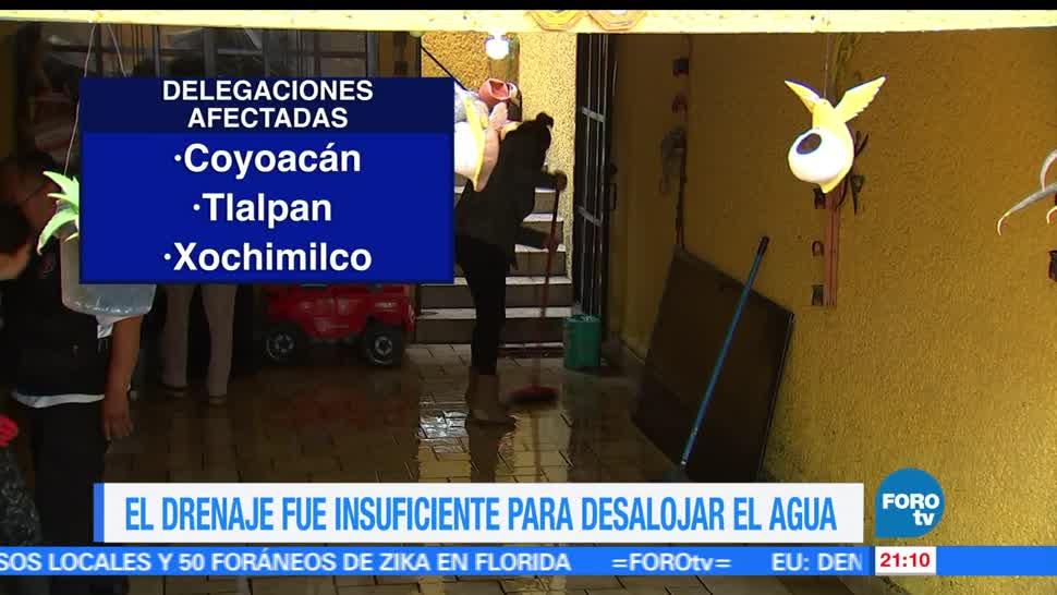 Siguen, afectaciones, lluvias, Ciudad de México, CDMX, Coapa