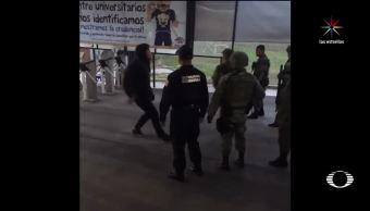 Jóvenes, enfrentan, soldados, FES Acatlán,ejército, unam