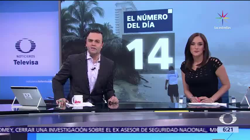 14 huracanes, Pacífico, Atlántico, costas mexicanas