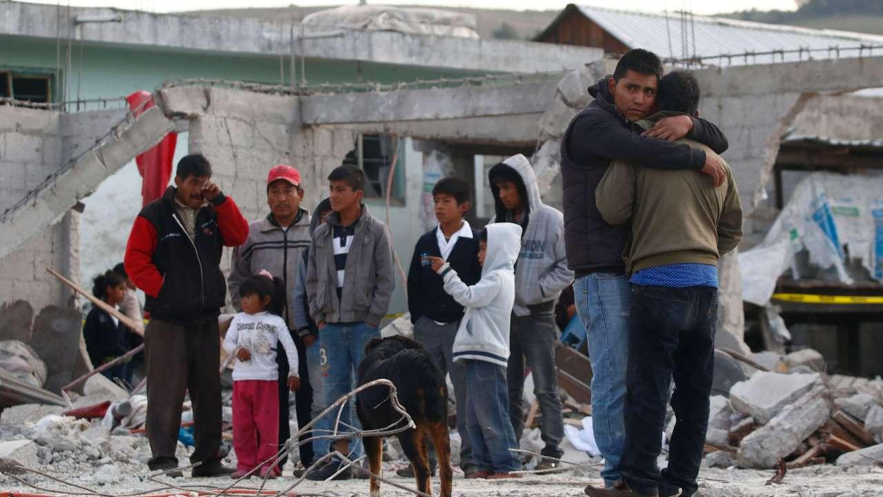 Explosión por pirotecnia en Chilchotla, Puebla. (EFE, archivo)