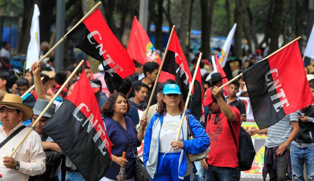Protestas de integrantes de la CNTE. (Notimex)