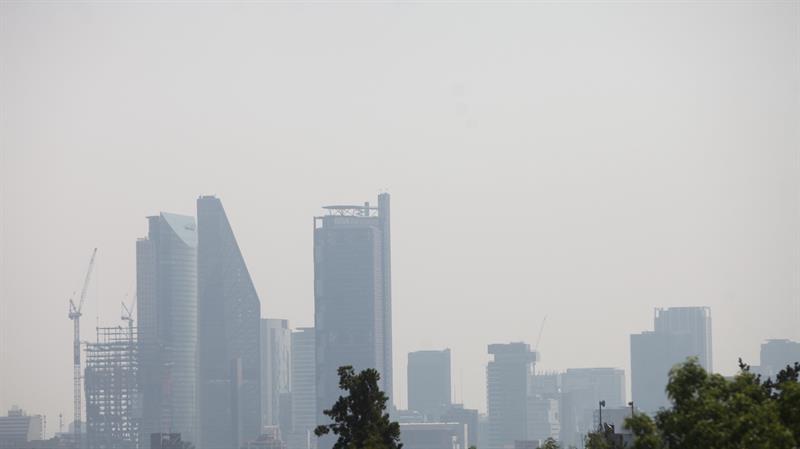 Las autoridades piden que niños y adultos mayores permanezcan en lugares cerrados debido a los elevados índices de ozono (EFE)