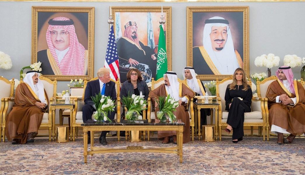 presidente de Estados Unidos, Donald Trump, Melania Trump, bienvenida, rey saudita,