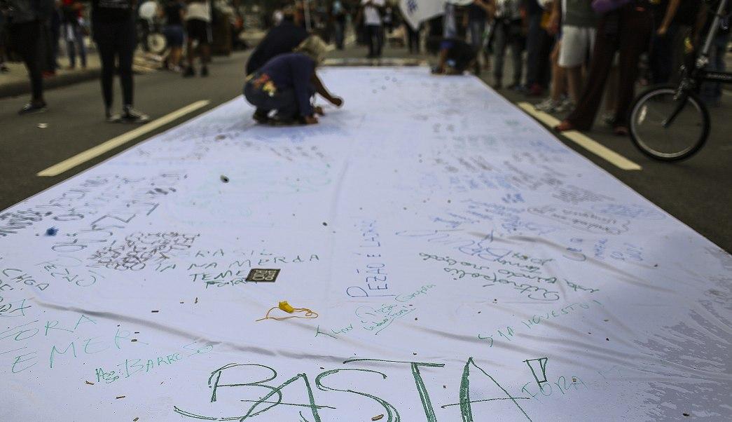 Brasil, michel temer, corrupción, marcha, manifestantes